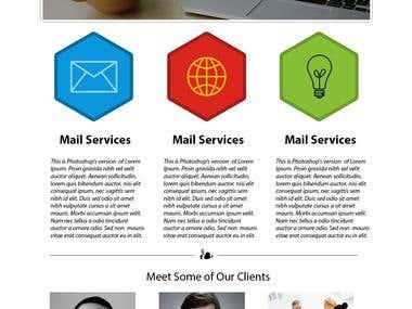Web Design of Local Company