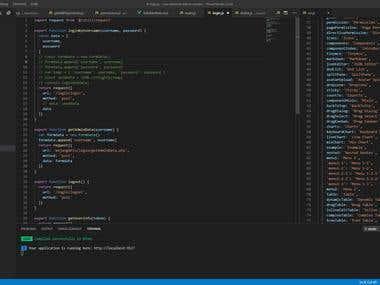Admin system using Vue.js