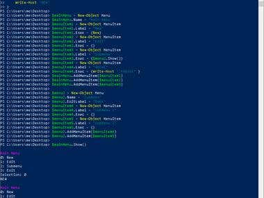 Simple PowerShell Structured Menu