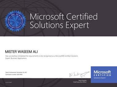 Microsoft® Certified Solutions Expert: Business Applications