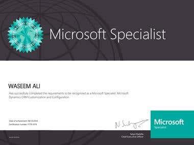 Microsoft Specialist: Microsoft Dynamics CRM Customization a