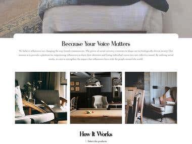 Minimalist One Page website