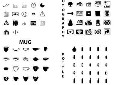 LINE AND GLYPH ICON