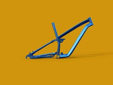 3D Bike Frame Model At Real Sizes