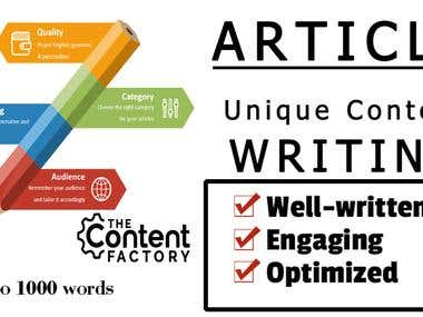I can write SEO Friendly Content Of 500 -1000 Words in Time