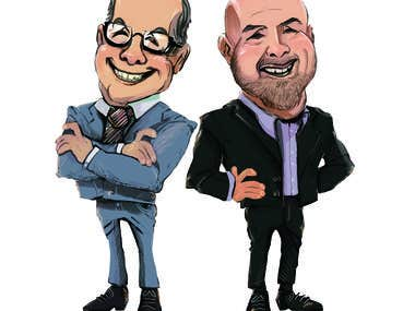 Cartoon caricatures design