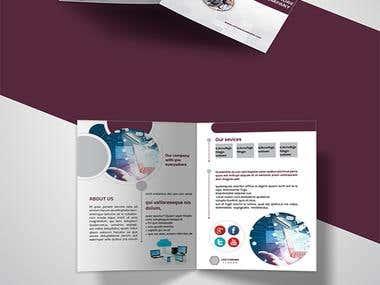 A5 Bi-fold, brochure Professional Design