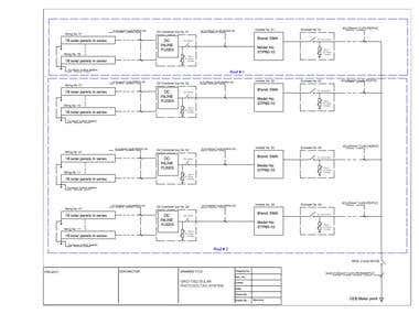 Single line diagrams using AutoCAD