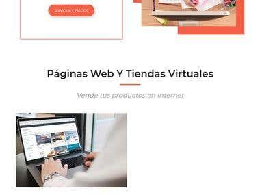 Desarrollo de página de servicios de internet