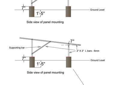 A ground mounted structure drawing