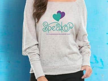 T-shirt design for speakup
