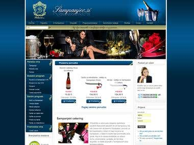 Champagne Importer - Website and Web Shop