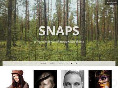 This is WordPress theme that requires some hi-res images, b