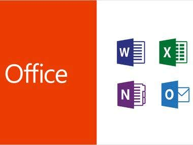 Microsoft office and data entry services
