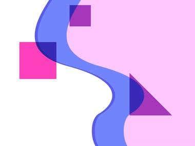 Фон для сайта, веб-дизайн, Flat Design