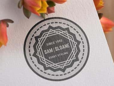 Vintage logo for event styling