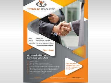 Flyer for Stringline consulting
