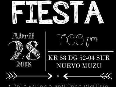 Tarjetas para Fiesta