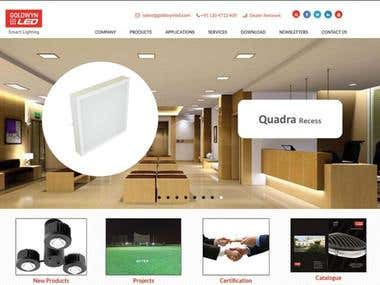 Web Design For energy efficient LED lights