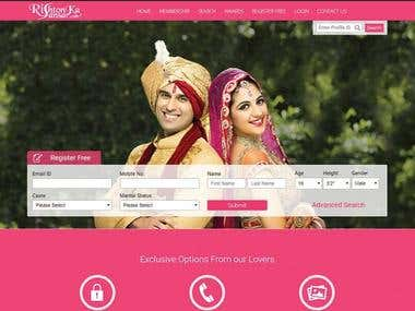 Web Design For matrimonial Website