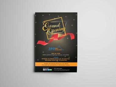 Grand Opening Flyer Design