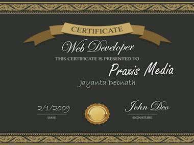 Certificate..........
