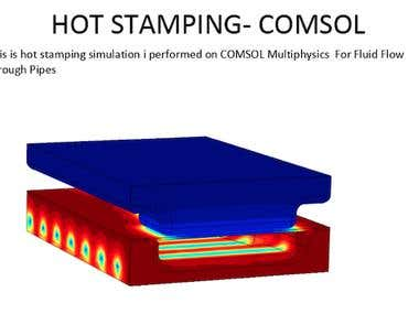Hot Stamping Analysis of Automotive Graded steel