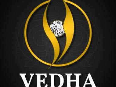 Vedha Jewellers Logo Design