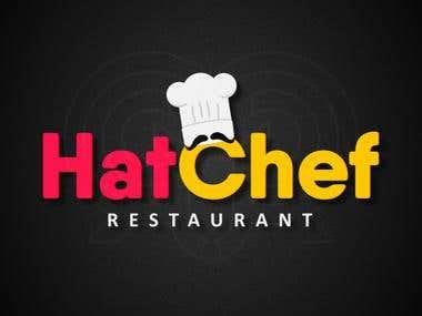 HatChef Restaurant Logo Design