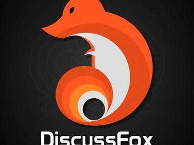 DiscussFox Web Forum Logo Design