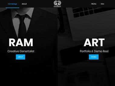 Ramandart - Website Design