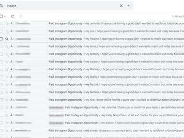 Contacting IG influencers