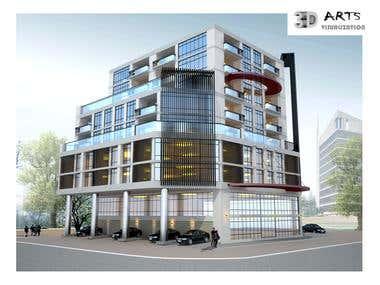 15. Exterior Building facade USA.