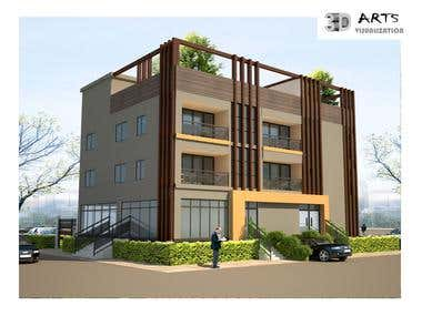 14. Exterior Building Facade Cape Verde.