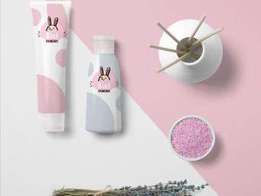 Cosmetic Packaging and Logo Design