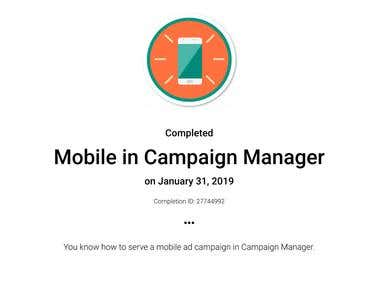 Mobile in Campaign Manager