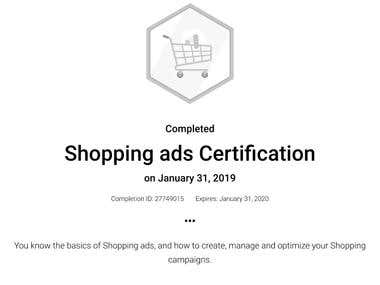 Shopping ads Certification