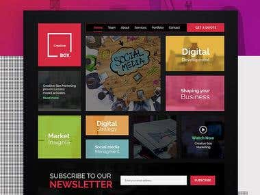 Creative & modern website design.