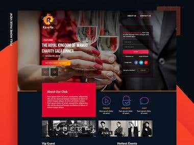 Party website design.
