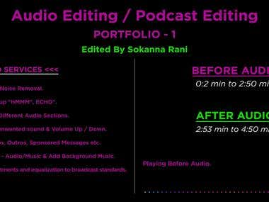 Audio Editing / Podcast Editing