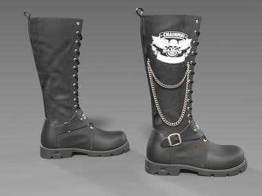3D Model of boots