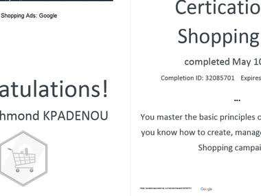 Google Ads Shopping Certified