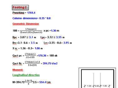 Writing Calculation sheets , Report on word