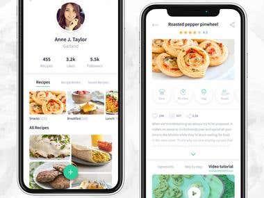 Fooda Recipe iOS App