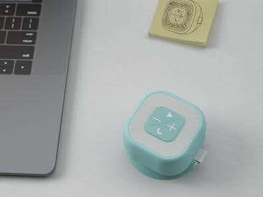 Shower speaker concept