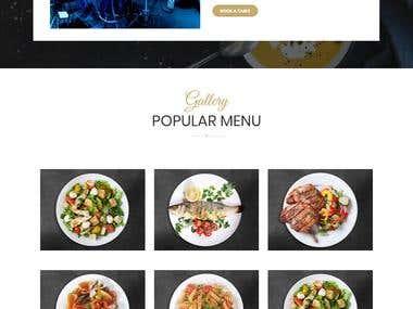 Website Design for cafe restaurant