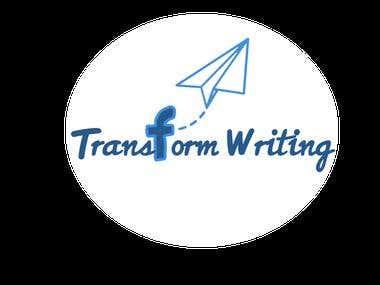 a logo for Transform Writing