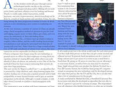 Magazine Article on Technology