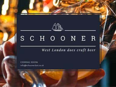 Coming soon page & email setup (Schoonerbar.co.uk)
