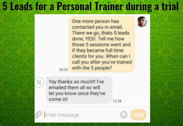 5 Leads generated for Personal Trainer